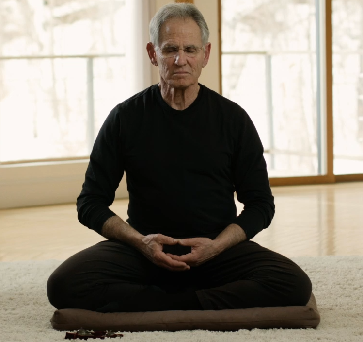 Jon Kabat-Zinn in Sitting meditation pose